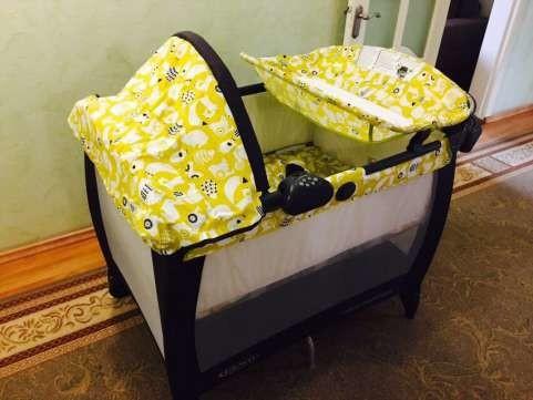 Новый манеж - кроватка graco в упаковке. оригинал с америки. грако. фото №6