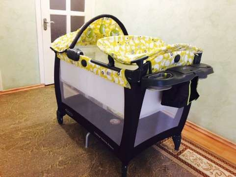 Новый манеж - кроватка graco в упаковке. оригинал с америки. грако. фото №5