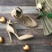 Красивые летние туфли Asos на шпильке из лакированной эко-кожи  SH 1106