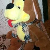 большая мягкая игрушка Собака 50см