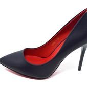 Туфли женские Mengting Apricot 9268 синие