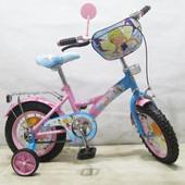 Детский велосипед Чарівниця 12 T-21223 pink + blue.