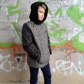 Твидовое пальто для мальчика,128-164 см