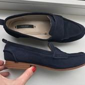 Туфли(мокасины) замша Zara 38p.(24,5 см)