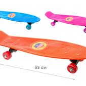 Скейт пенни борд 54 см. колеса PVC