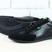 Кроссовки мужские Lacoste черные кожаные