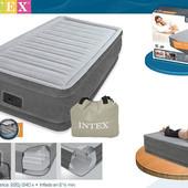 Велюр кровать Intex 67766 со встроенным насосом