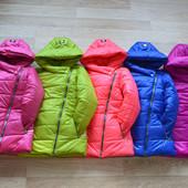 Демисезонные куртки Полина 122-140 см Качество!