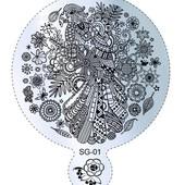 Пластина для стемпинга круглая, большая (диаметр 8,5 см)