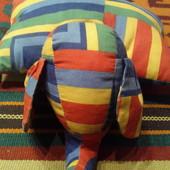 Хлопковая подушка-игрушка слоник