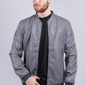 Куртка мужская демисезонная, экокожа 409K001-2