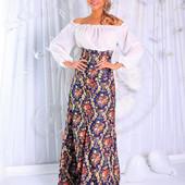 Сарафан женский длинный в расцветках 15472