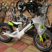 """Детский беговел (велобег) Azimut Balance Air 14"""" зеленый"""