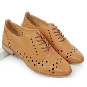 Полуботинки коричневого цвета на шнуровке