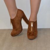 Замшевые стильные ботинки 36-41р