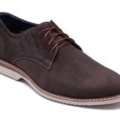 Модные мужские туфли - коричневые (161к)