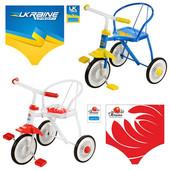 Детский трехколесный велосипед LH-701 UKR