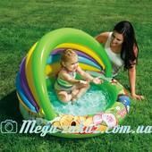Детский надувной бассейн с навесом Винни Пух Intex 57424: 102х69см, надувное дно
