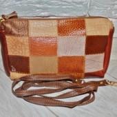 Кожаная сумочка клатч