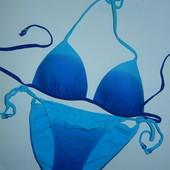 Красивый сине-голубой купальник,р-р 10,евро 38 на наш 44-46,А-В чашка
