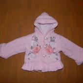 р. 80-86-92, хорошенькая меховая куртка для принцессы