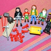 Playmobil конструктор игровой набор.Человечки,детали пожарный инвентарь