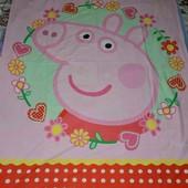 Обалденная качественная фирменная полуторная постельное детское Peppa Pig Свинки Пеппа