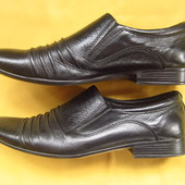 Кожаные нарядные мужские туфли,р.39
