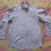 Бело-розовая рубашка р. 48-50, идеальное состояние, на высокий рост