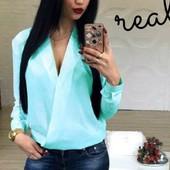 Элегантная блузка 6 цветов р-ры 42-48