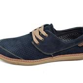 Мужские Мокасины с перфорацией Multi Shoes XC синие