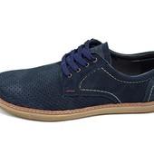Мужские Мокасины с перфорацией Multi Shoes Ra2 синие