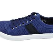 Мужские Мокасины с перфорацией Multi Shoes Solo синий джинс