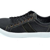 Мужские мокасины с перфорацией Multi Shoes Solo черные