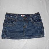 р. M, поб 48, юбка джинсовая Only с потертостями