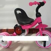 Трехколесный детский музыкальный велосипед 1714 розовый