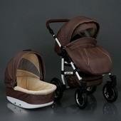 Универсальная коляска 2 в 1 Baby Tilly Saturn Len, шоколадный