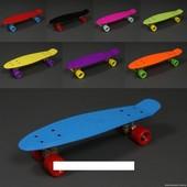 Скейт 780 Пенни борд однотонный, без света