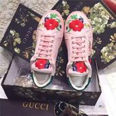 Кеды Gucci с вышивкой