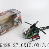 Вертолет военный на батарейках ., свет, звук, в кор .27,0*15,0*15,0см