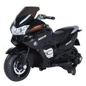 Детский электромообиль-мотоцикл T-726 black, черный