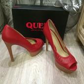 Туфли красные с открытым носком