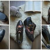 Крутые туфли-ботинки с заклепками,р-р 41