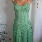 Шелковое новое платье-сарафан в полоску