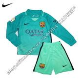 Детская футбольная форма Барселона длинный рукав Nike 2017 резервная 2155