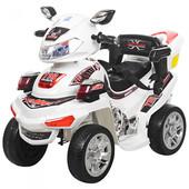 Детский квадроцикл M 0633EBR-1, белый (Eva колеса)