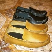 Новые кожаные мокасины 43, 44 и 45 размеров
