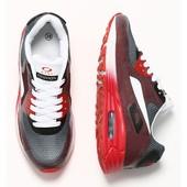 Женские кроссовки красно-серые