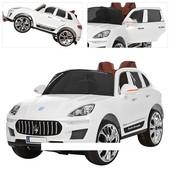 Детский электромобиль M 3288 eblr-1 с кожаным сиденьем, белый