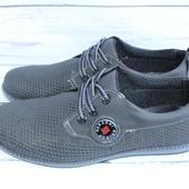 Летние мужские туфли, кожаные, черные